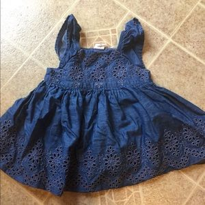 Other - Chambray eyelet dress